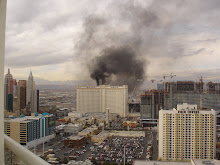 Our view of the hotel fire in Vegas!