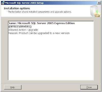 sql server 2005 express  windows vista