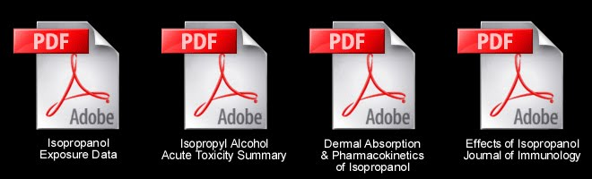 Dermal exposure and acute toxicity data for Isopropyl Alcohol (condensed).