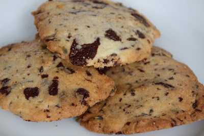 Lavender chocolate chip cookies homemade