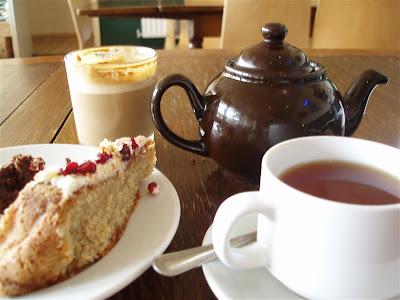 Mudchute Kitchen afternoon tea latte cake