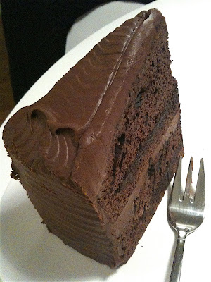 Barcomi's Mitte raspberry chocolate ganache cake