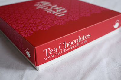 Matcha Chocolat tea chocolates box red