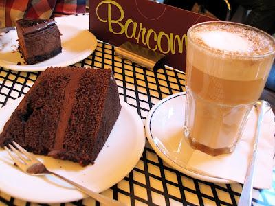 Barcomi's raspberry ganache cake