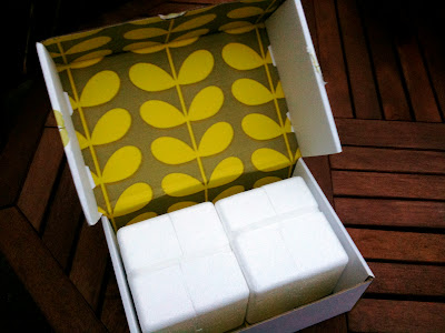 Orla Kiely mug packagaing