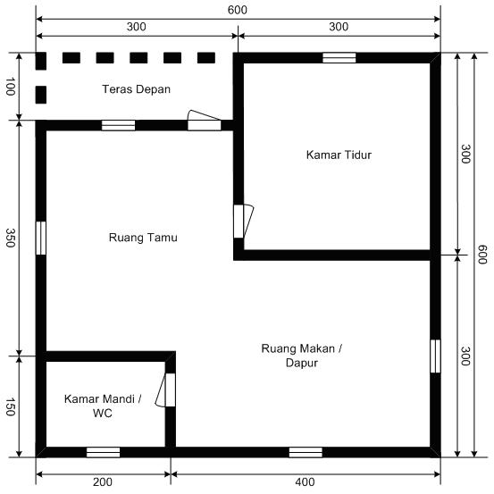 Sukron yakub dicky kurniawan kelas 2 te instalasi rumah sederhana pemasangan instalasi listrik rumah tinggal tipe 36 denah rumah tipe 36 ccuart Choice Image