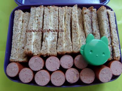 Roti tawar isi keju