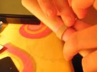11 colocar tira sobre lastra   Anillos de tira