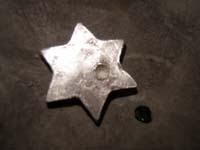 13 piedra caida   Colgante de estrella con piedra