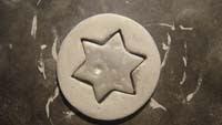 """12 colgante circular con estrella   Colgante """"atrapasueños"""""""