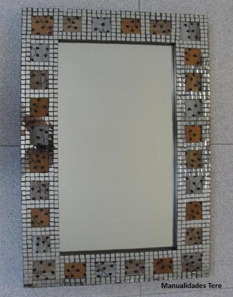 Manualidades bellas artes y enmarcacion tere mota - Manualidades espejos decorados ...