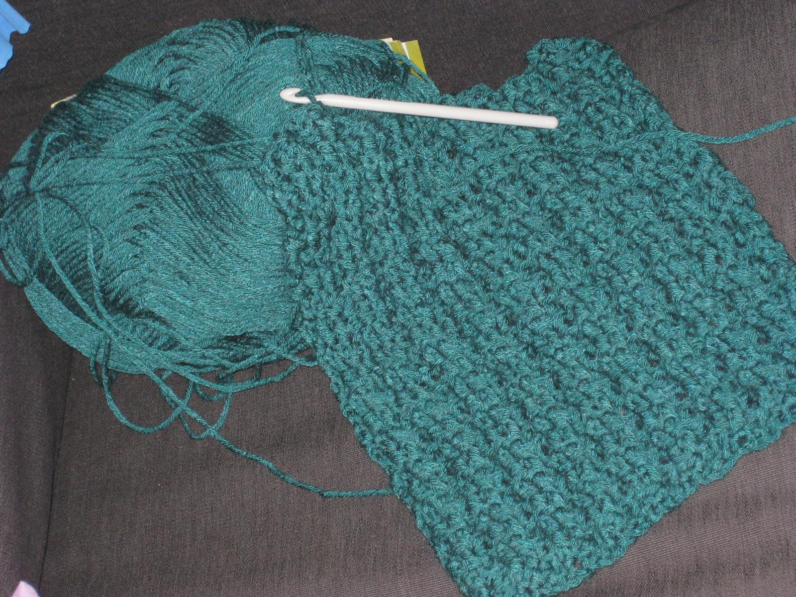 Olisushi imagine sa vie echarpe au crochet - Faire une boutonniere au tricot ...