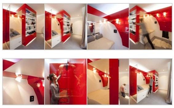 Un dise o muy original para apartamentos peque os for Diseno interior de apartamentos pequenos