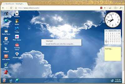 SilveOS.com - Silverlight Operating System in Your Web Browser