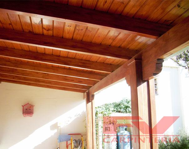 Fv carpinter a galerias for Techos rusticos para galerias