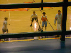 Logan playing basketball