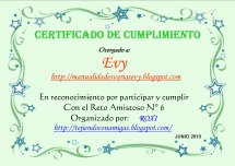 Certificado Reto Amistoso Nº 6