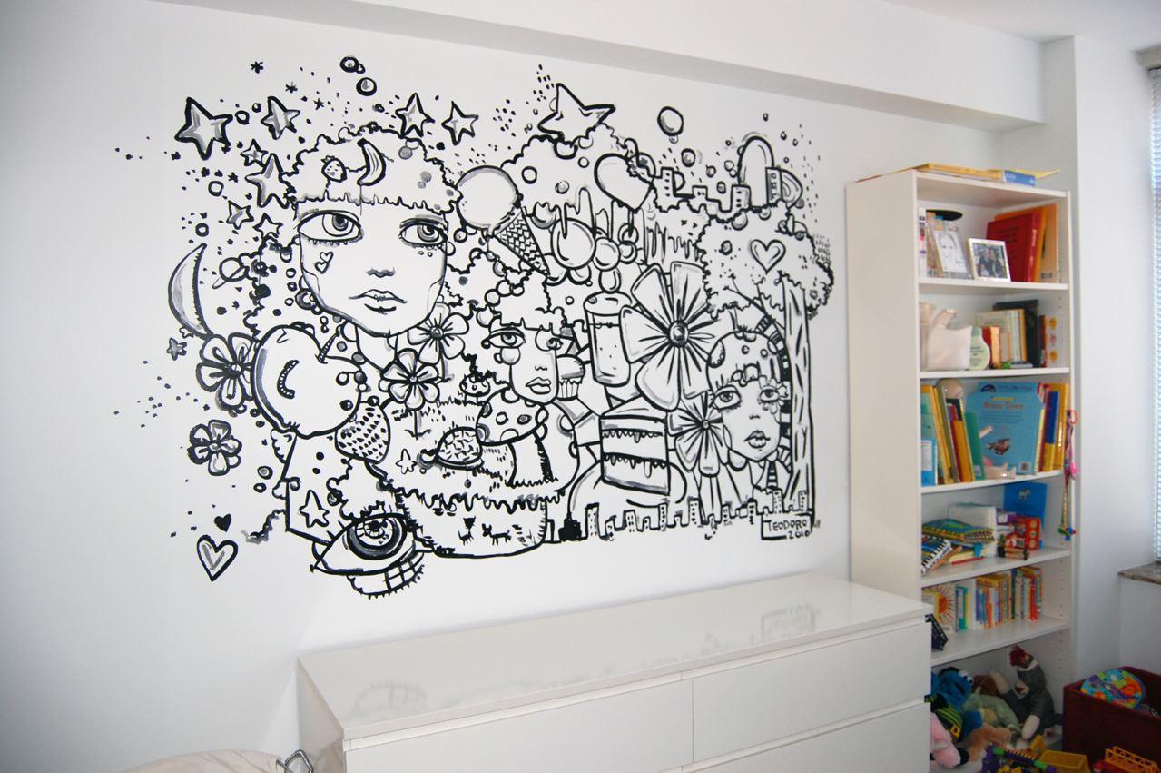 Justin teodoro mural series 5 henry 39 s bedroom for Bedroom mural painting