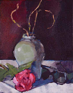 Connie Kleinjans painting: Still Life with Shades (study)