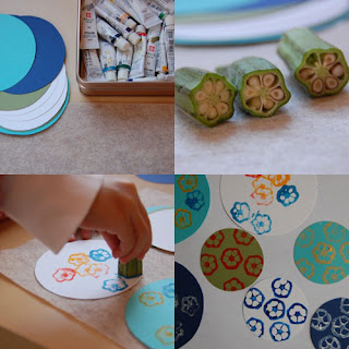 Vegetable Printing http://mumspiration-sa.blogspot.com/2010/01/painting-projects.html