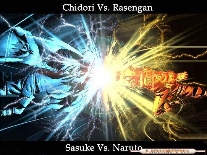 naruto shippuden rasengan vs chidori. Naruto Vs Sasuke Rasengan Vs