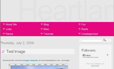 heartland blogger template
