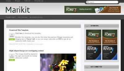 Marikit Blogger Template