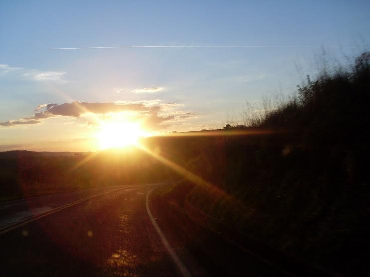 O sol quase se despedindo