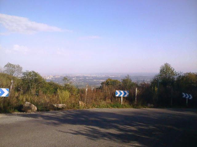vue sur Lyon depuis le col de la croix du ban
