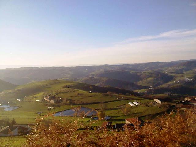 vue sur les monts du matin