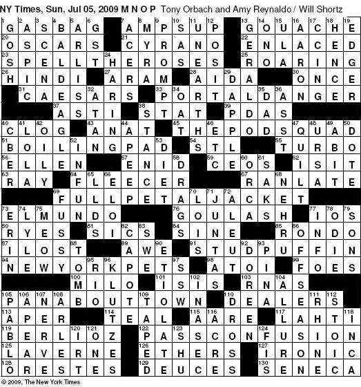 sc 1 st  Diary of a Crossword Fiend - blogger & Diary of a Crossword Fiend: Sunday 7/5u2014New York Times crossword 25forcollege.com