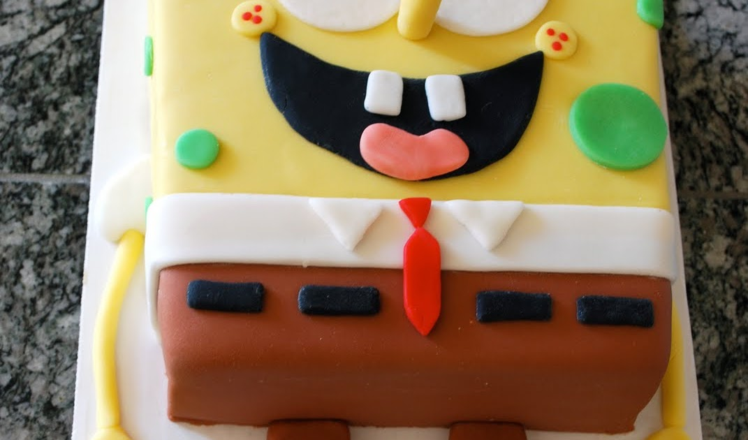 how to make a spongebob cake recipe