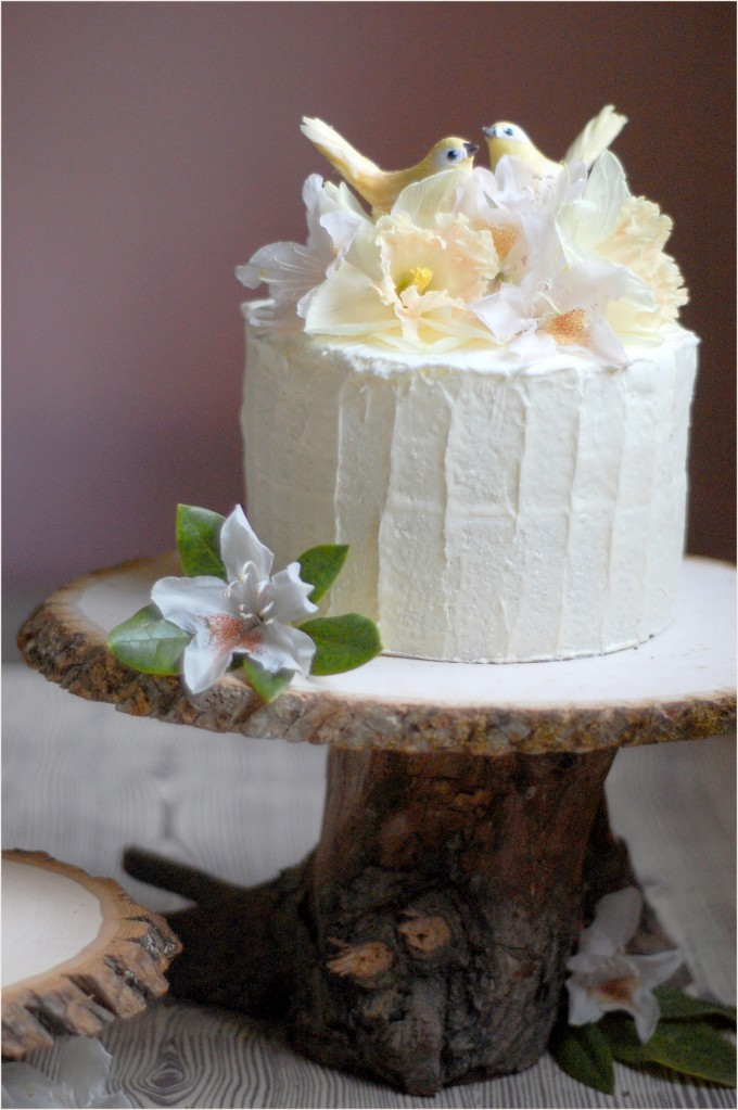 Dreaming Down The Aisle DIY Rustic Wedding Cake Stand