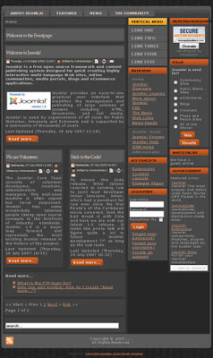 joomla template with dark color scheme