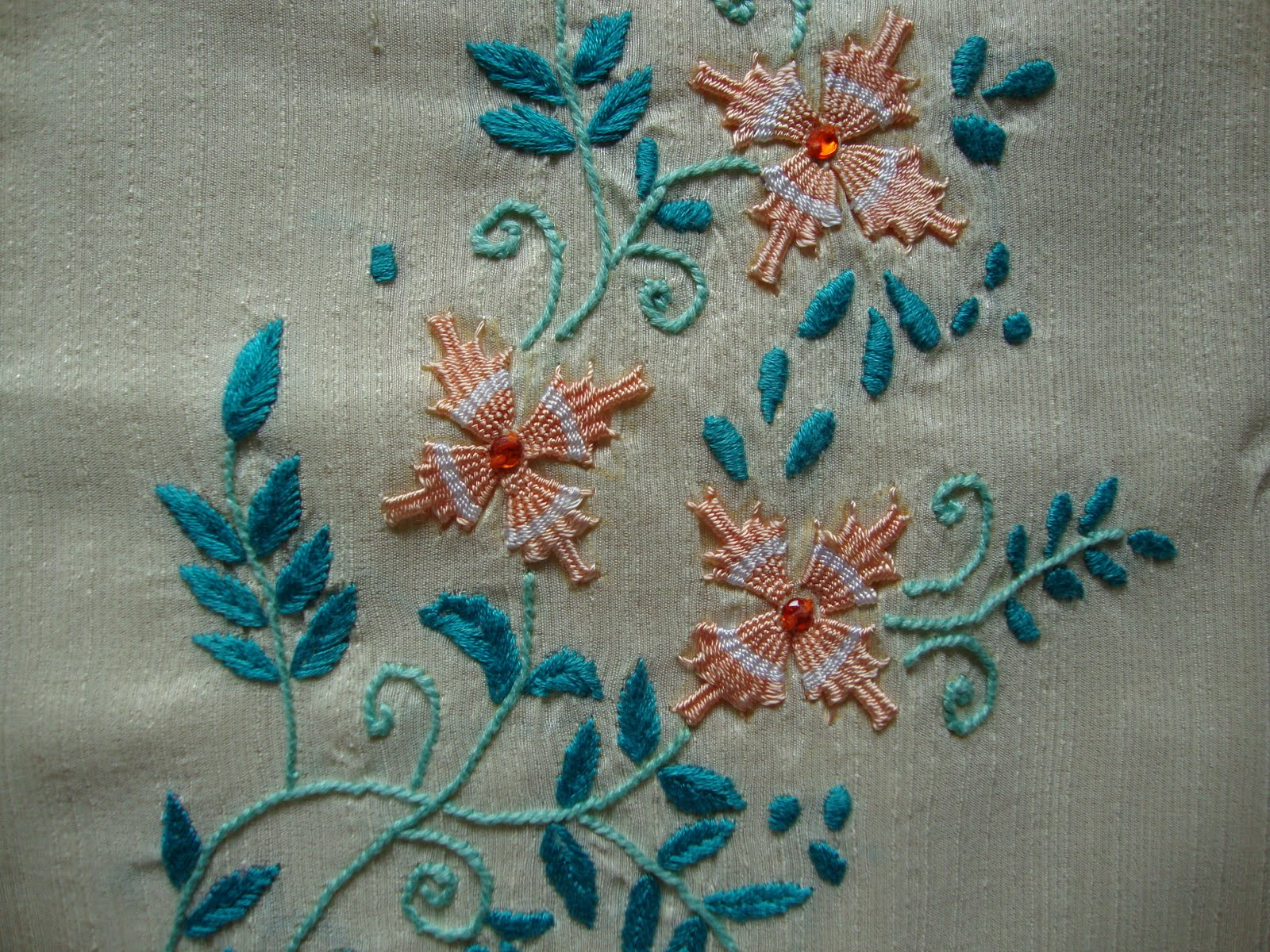 Pinch Of This And Dash Of That Kamal Kadai Embroidery On Salwar