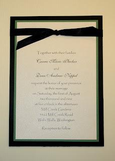 Green Black Wedding Invitations Designs