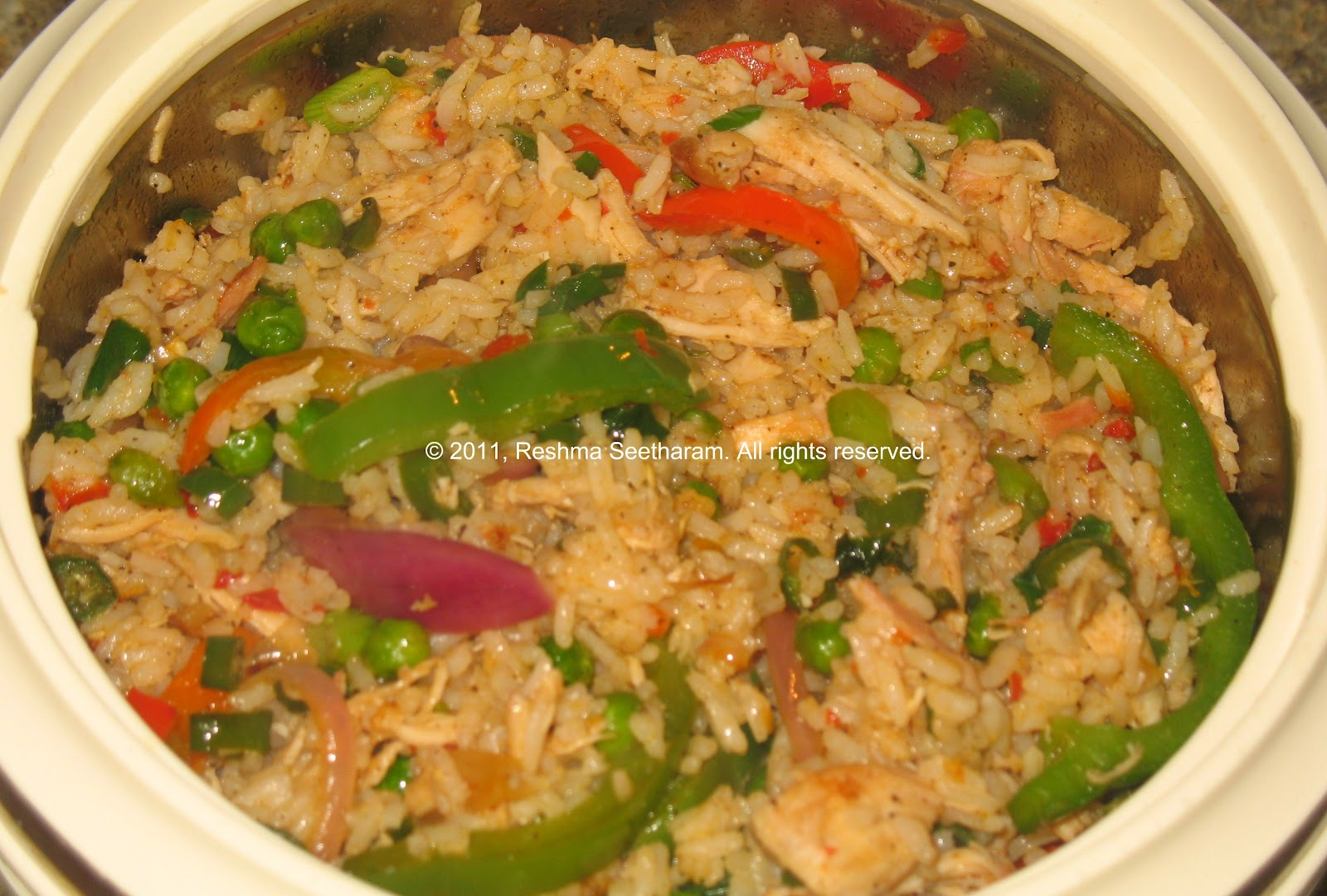 Chicken fried rice – Thai style