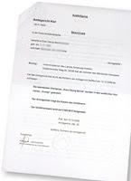 Gerichtsbeschluss zur Vornamensänderung Sven zu Svenja