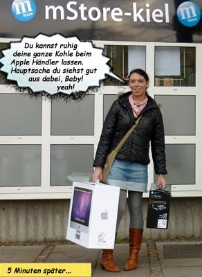 Svenja kauft Apple iMac in Kiel