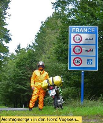 Mit der Enduro in Frankreich