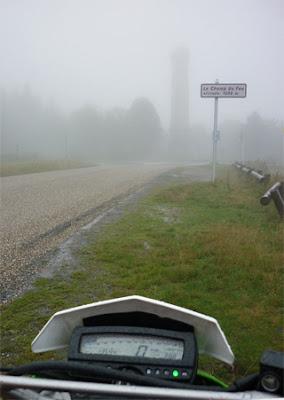Motorradtour Champ de Feu im Regen