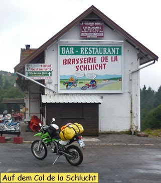Mit dem Motorrad auf dem Col de la Schlucht