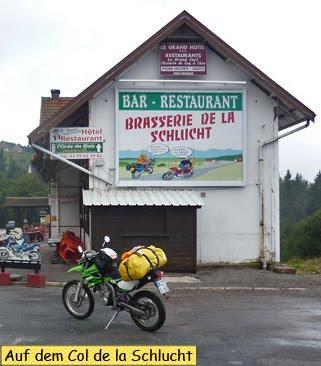 Mit dem Motorrad auf dem Col de la Schlucht