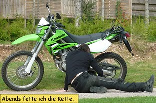 Kette fetten bei der Enduro
