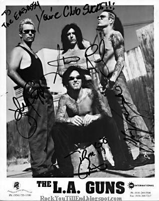 La Guns Autographed Photo