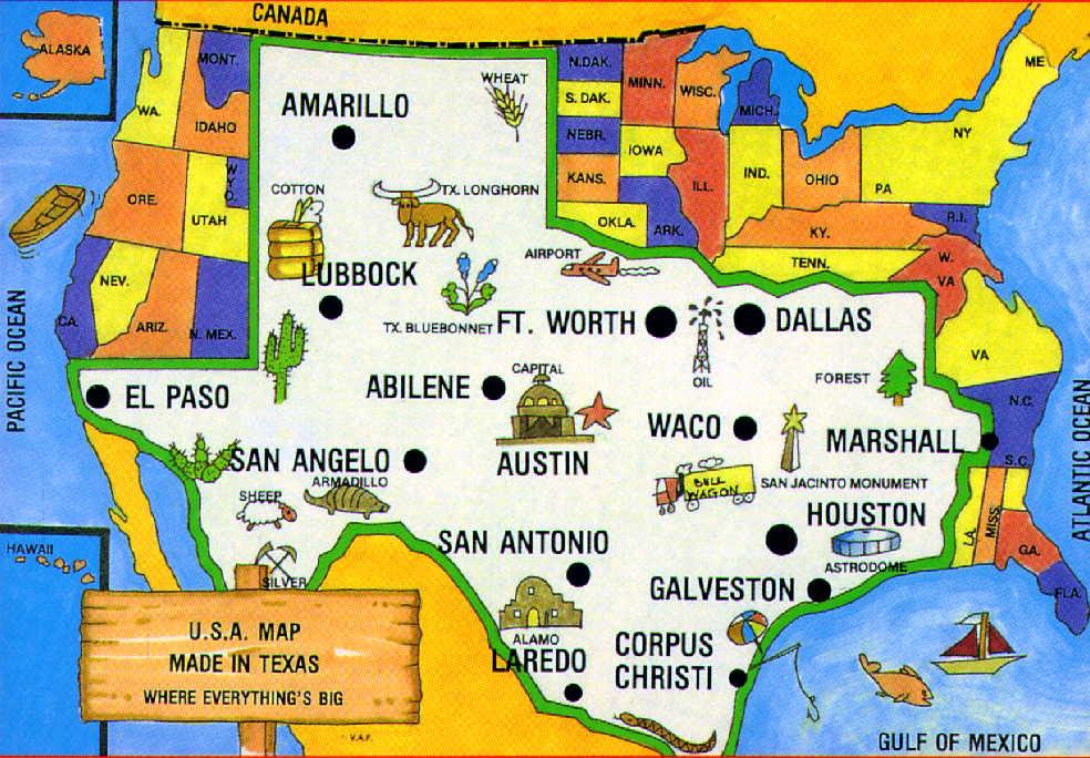 Mapas De Texas - Mapa de texas usa