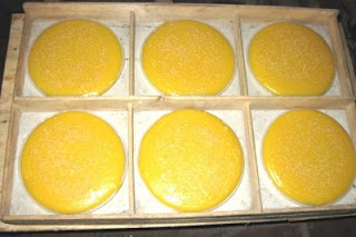 The soft green peas cake- the traditional cake in Tet