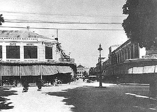 The first asphalt road in Hanoi