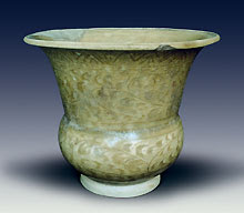 Vase, celadon glaze.