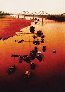 The Red river- peach silk ascross Hanoi